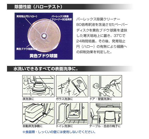 『バーレックス除菌クリーナー』の特徴