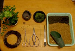 盆栽の作り方 用意するもの