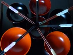 輪島塗小判型 さまざまな「すべらん箸」